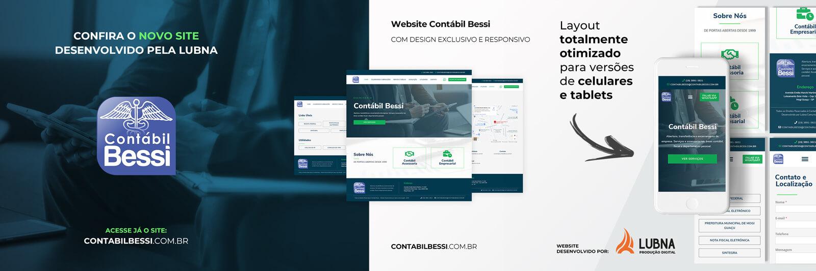 Banner Site Contabil Bessi por Lubna Produção Digital