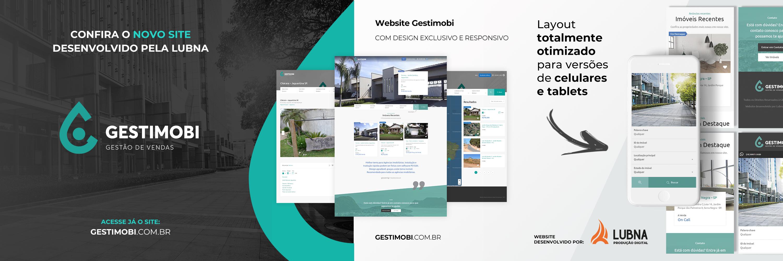 Site Gestimobi por Lubna Produção Digital