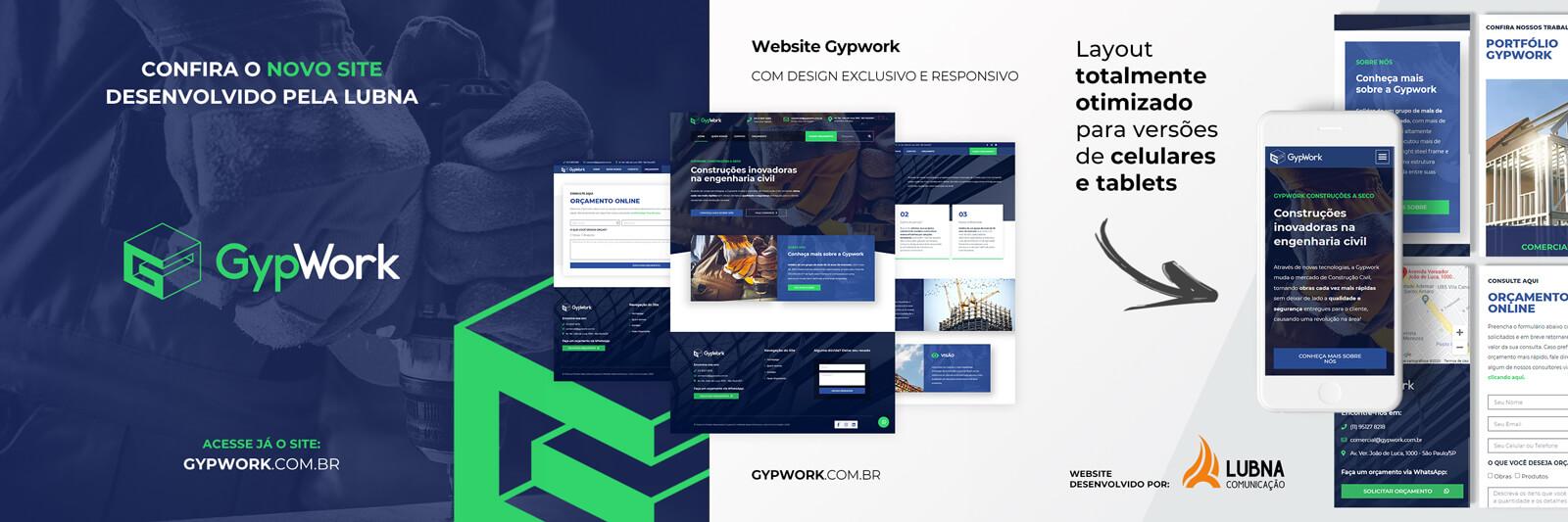 Banner Site Gypwork por Lubna Produção Digital