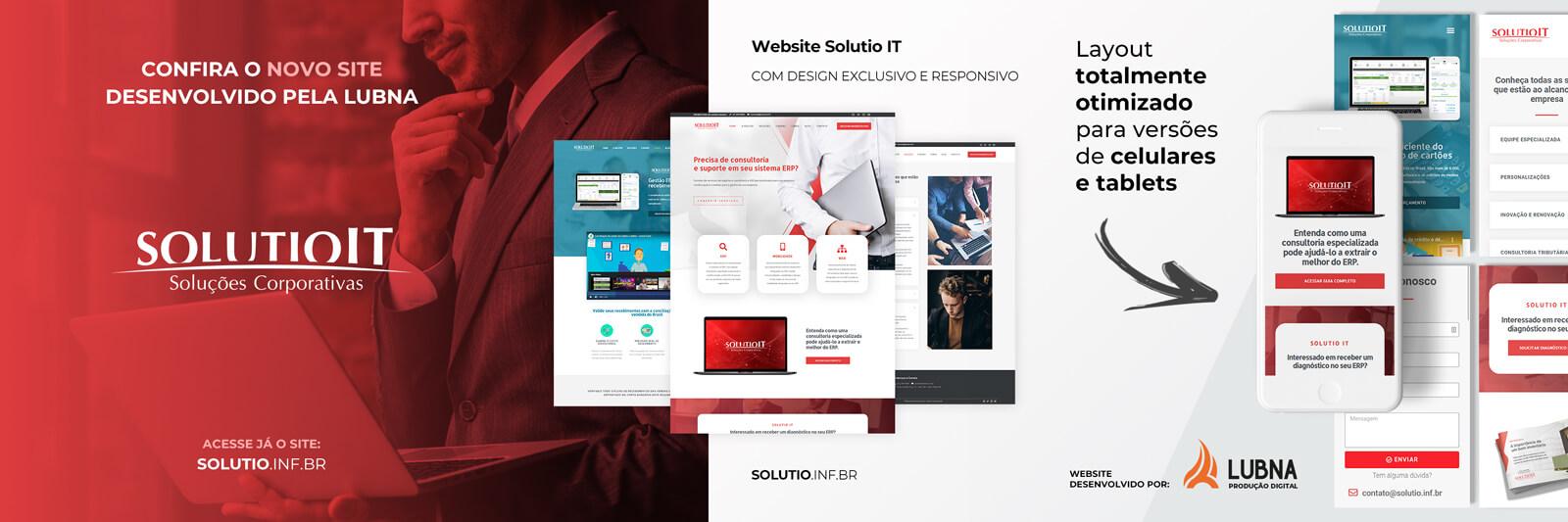 Banner do Site da Solutio IT por Lubna Produção Digital
