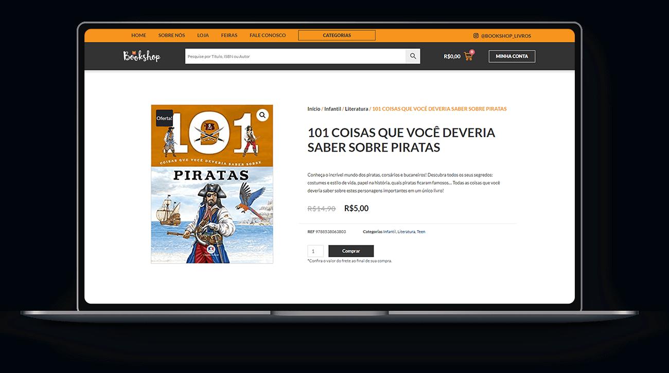 Loja Virtual Book Shop Livros - Lubna Produção Digital