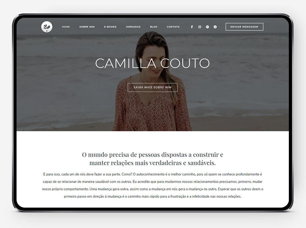 Site Camilla Couto por Lubna Produção Digital