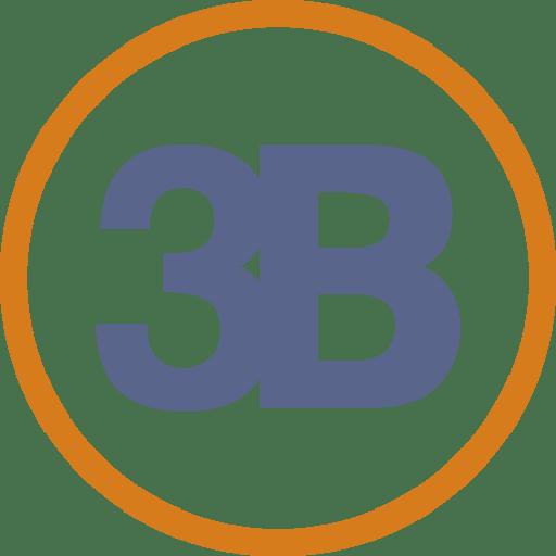 Logotipo 3B cadernos - Lubna Produção Digital