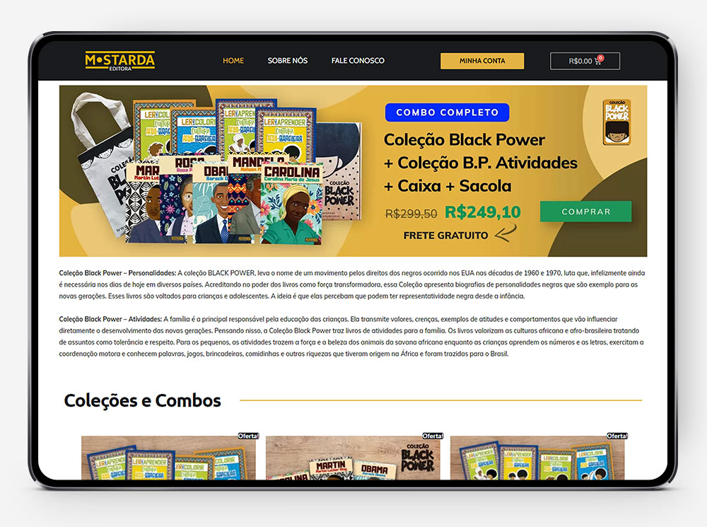 Loja Virtual Editora Mostarda