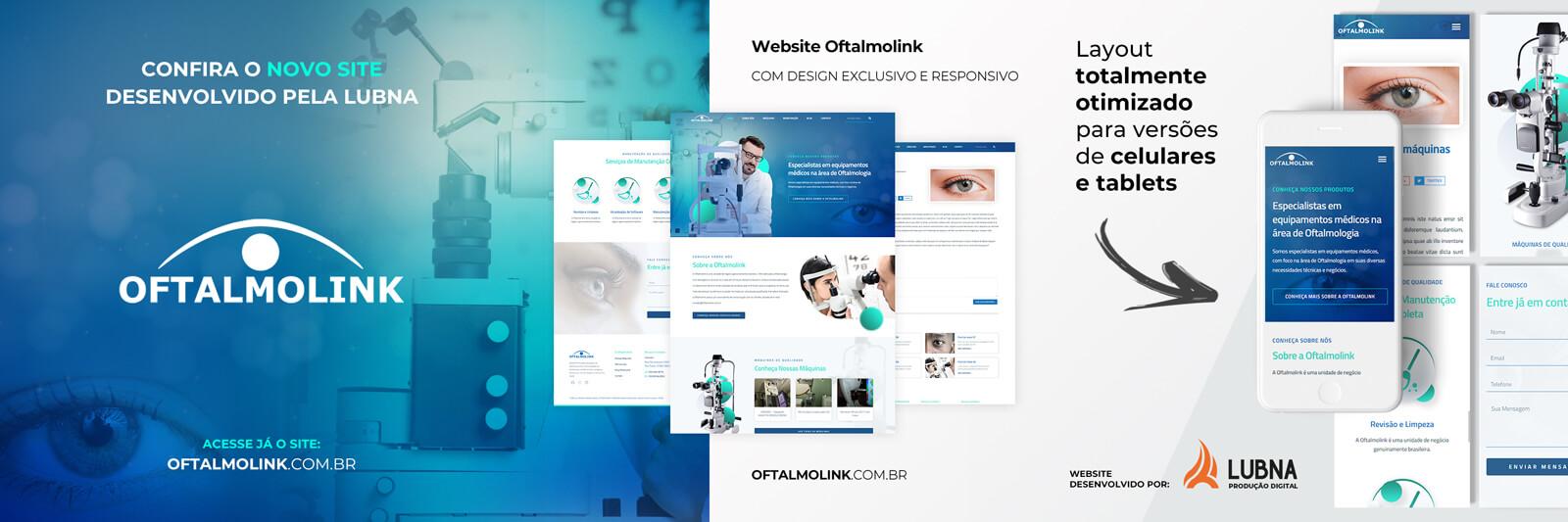 Site Oftalmolink por Lubna Produção Digital