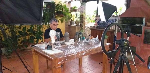 Gravação Video Aula Escultura - Lubna Produção Digital